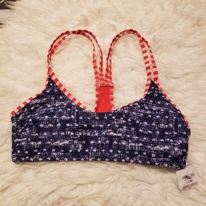 Mossismo bikini top 4th of July stars large NWT
